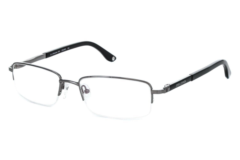 John Lennon Lifestyles 506 Mens Eyeglass Frames - Gun/Black