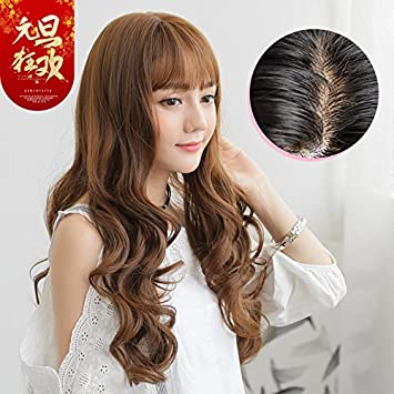Amazon South Korean Women Girls Female Long Hair Wig Sets Of