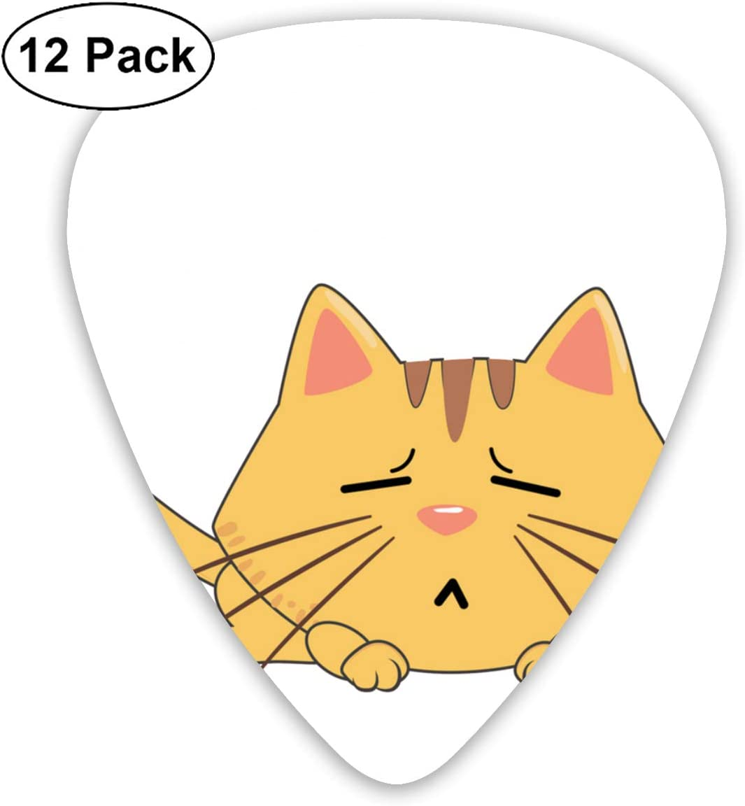 Cavdwa - Púas de Guitarra Personalizadas con diseño de Gato de ...