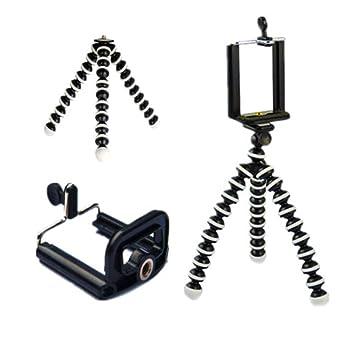 juqilu Soporte para trípode Flexible, Soporte para trípode de Pulpo, Trípode para Teléfono, para Cámara de acción/Smart Phone/Cámara Digital: Amazon.es: ...