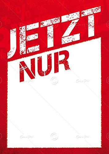 Despri Preisschilder F0014 Jetzt nur Werbeschilder 25er Set Rot DIN A5 mit Textfeld