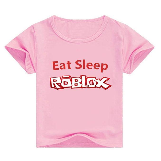 Roblox Camiseta Popular Impreso Camiseta Cuello Redondo Ocio Top Acogedor Algodón Manga Corta niñas