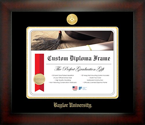Celebration Frames Baylor University 11 x 14 Mahogany Finish Infinity Diploma Frame ()