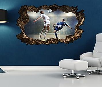 3d Wandtattoo Fussball Ball Sport Spieler Tor Fussballspieler Bild Wandbild Wandsticker Wohnzimmer Wand Aufkleber 11f149 Wandbild Grosse F Ca