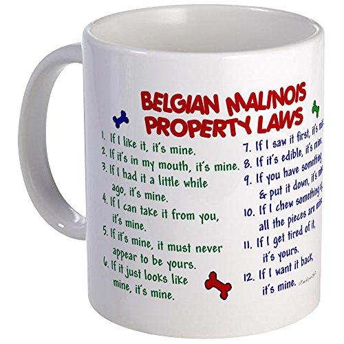 CafePress - Belgian Malinois Property Laws 2 Mug - Unique Coffee Mug, Coffee Cup (Belgian Malinois Mug)
