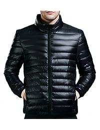 HengJia Men's Packable Down Puffer Coat Lightweight Down Winter Jacket