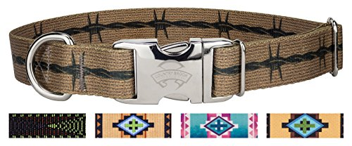 - Country Brook Design | Premium Barbed Wire Dog Collar Limited Edition - Large