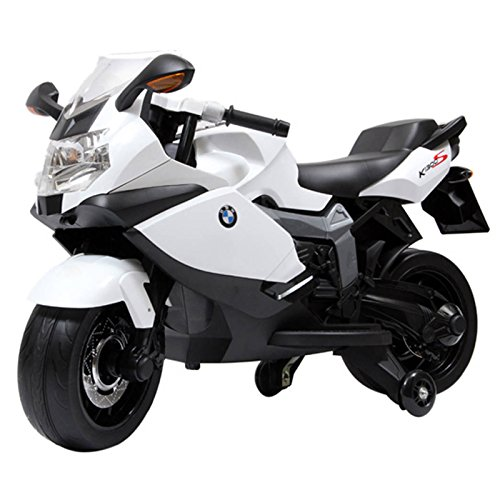 Licensed Motorcycle 12V Kids Battery Powered Ride On Car - White