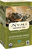 Numi Organic Tea Gunpowder Green, 18 Count Box of Tea Bags (Pack of 3) (Packaging May Vary)