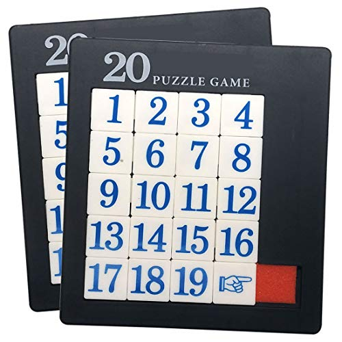 Plastic Slide 19 Number Puzzle - 2 Pack