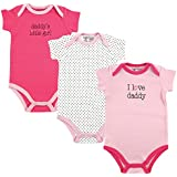 Luvable Friends Baby Sayings Bodysuit 3pk, Girl Daddy, 0-3 Months