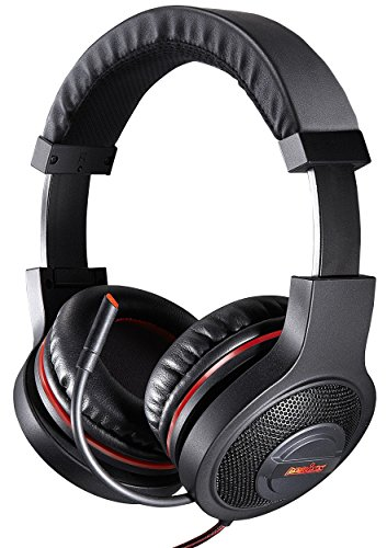 Perixx AX-3000, 7.1 surround sound gaming headset - Folding Design - In-line Audio Control - 5.9Ft Braided Cable - Compatible with Win 10