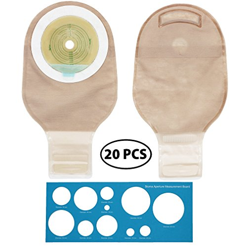 Liquid Bags Filter (LotFancy 20 Drainable Pouches - Ostomy Bags with Closure for Colostomy Ileostomy Stoma Care, Cut-to-Fit, One-Piece System, FDA Approved)