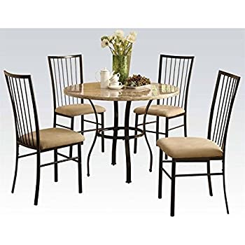 ACME Furniture Darell 5 Piece Pack Dining Set In White