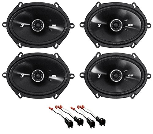 Kicker 6x8 Front+Rear Speaker Replacement Kit for 05-07 Ford F-250/350/450/550
