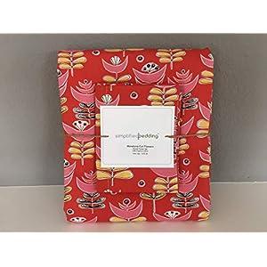 Image of 100% Organic Cotton Monaluna'Cut Flowers' Twin Duvet Cover Set