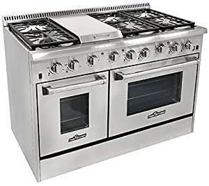 Thor Kitchen HRG4804U 6 Burner Gas Range with Double Oven