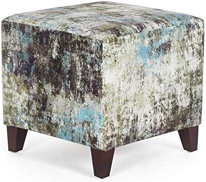 Adeco Cube Ottoman Footstool 16 Inch