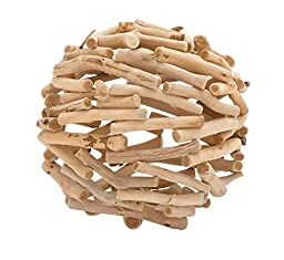 Driftwood Deco Ball - 11''D