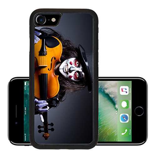 Liili Premium Apple iPhone 7 Aluminum Backplate Bumper Snap Case iPhone7 ID: 22581347 Monster playing violin in dark (Anger Costume Ideas)