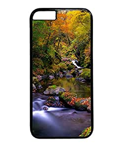 VUTTOO Iphone 6 Case, Forest Creek Autumn Case for Apple iPhone 6 4.7 Inch PC Black