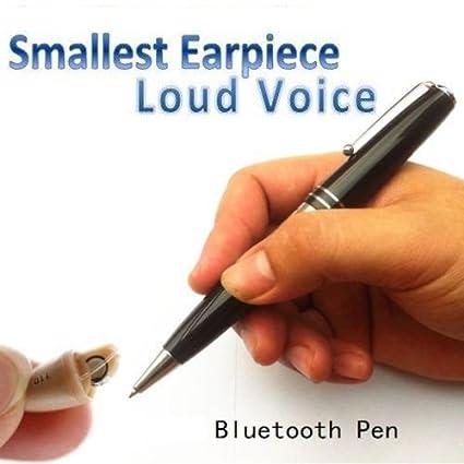 942b848cc4f Amazon.com : New Smallest Micro Spy Earpiece Bluetooth Pen Wireless Micro  Hidden Bug for Private Communication : Camera & Photo