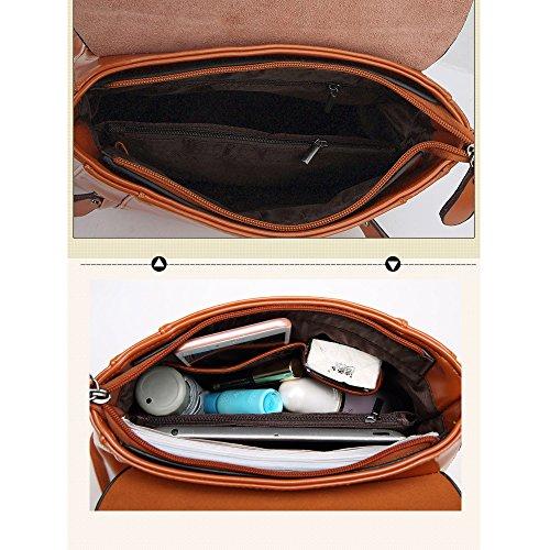 (JVP1025-B) Las señoras del estilo japonés mochila PU negro 3 way back bolso del bolso del bolso de la señora dulce de cuero real popular ligero viajero de la recuperación de la escuela informal bolsa Negro