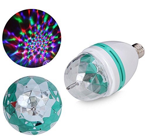 Disco Crystal Curtain (E27 3W Colorful Rotating Stage RGB LED Light Bulb Xmas Party Disco DJ Lamp US)