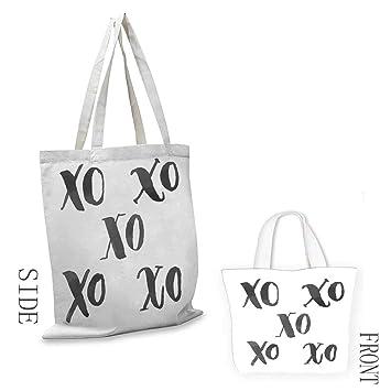 Amazon.com: Bolso Xo Decor Hugs and Kisses Icones con pincel ...
