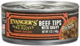 Evanger's Hand-Packed Super Premium Beef Tips with Gravy Canned Cat Food (5.5 oz. (24 in case))