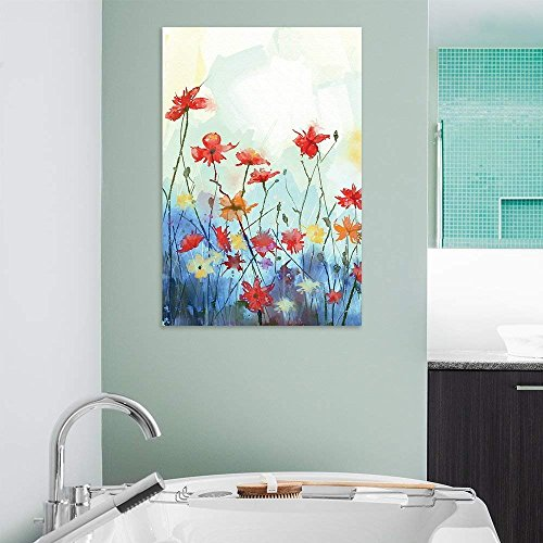 Watercolor Style Colorful Flowers