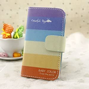 Colorful day & Rainbow wallet case slot flip leather Case cover for XiaoMi HongMi Note (RedRice Note)