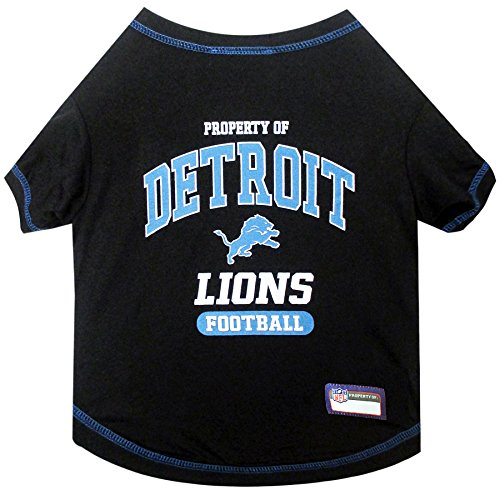 NFL DETROIT LIONS Dog T-Shirt, Small. - Cutest Pet Tee Shirt for the real sporty pup