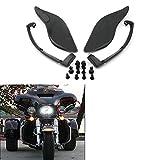 Plastic Adjustable Side Wings Air Deflectors Fairing Side Cover Shiled For Harley Davidson Electra Glide Street Glide