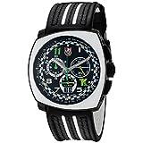 Luminox Men's 1143 Tony Kanaan Limited Edition Analog Swiss Quartz Black Leather Watch