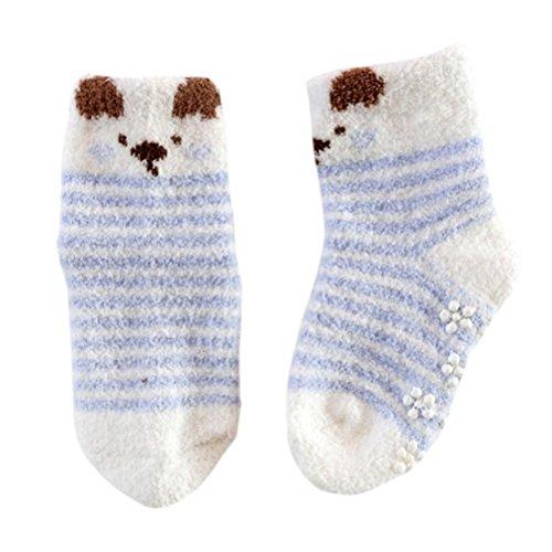 Sagton Enfants Bambin Bébé Mignonne Bande Dessinée Pantoufle Chaussettes Anti-dérapant Chaussures Bottes Chaussettes