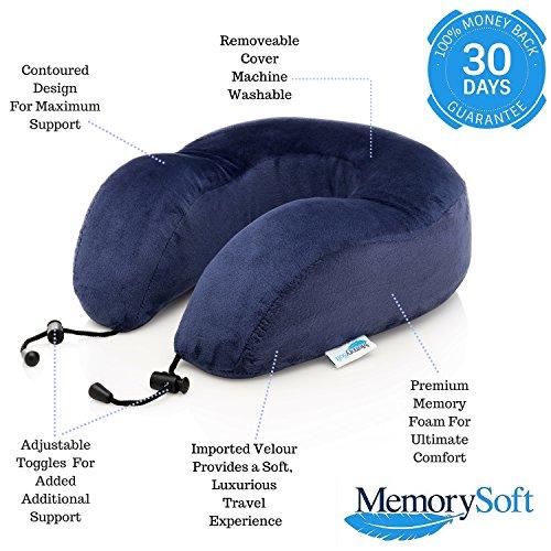 Amazoncom MemorySoft Memory Foam Travel Pillow Neck Pillow by