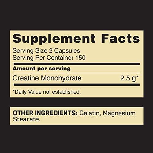 Optimum Nutrition Micronized Creatine Monohydrate Capsules, Keto Friendly, 2500mg, 300 Capsules (Packaging May Vary) 5
