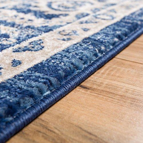 Essex Blue & Beige Vintage Traditional Persian Oriental