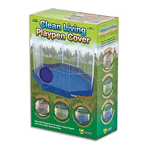 Ware Manufacturing Small Canvas Clean Living Small Pet Floor Cover, Blue/Green