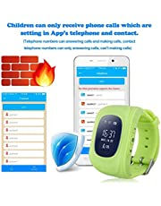 Q50 Kids Smart Watch GPS LBS Double Location Safe Children Watch Activity Tracker SOS Card - Green