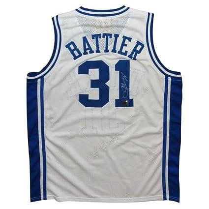 62037fca5ee3 ... uk shane battier autographed duke blue devils white 31 jersey bcd9a  fb085