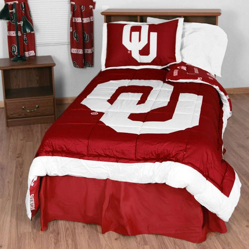 College Covers Oklahoma Sooners Reversible Comforter Set - (Oklahoma Sooners Comforter)