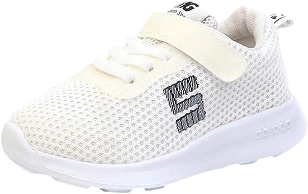 ALIKEEY Niños Pequeños Deporte Running Zapatos De Bebé Niños Niñas Cartas Malla Zapatos Zapatillas Flores Shoes Solteros Infantiles pequeños y Zapatitos by Tallas: Amazon.es: Zapatos y complementos