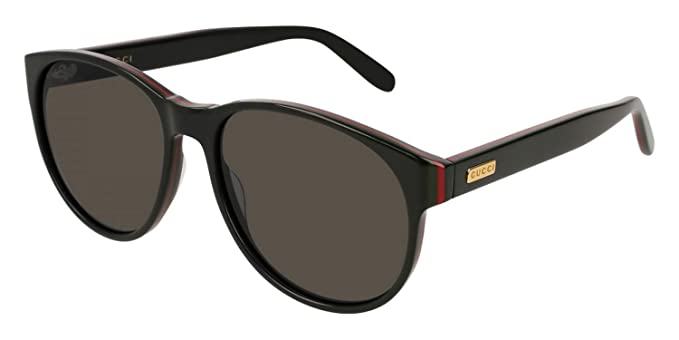 9d0f1ed393d Image Unavailable. Image not available for. Color  Gucci Black Red Stripe  Ladies Sunglasses - GG0271S-001