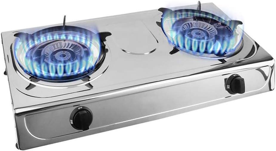 Hornillo de gas propano portátil doble quemador de cocina ...