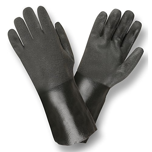 5114SI Snadpaper PVC 14 inch Supported PVC Gloves 12 pairs -