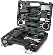 23 Piece Bike Tool Kit - Bicycle Repair Tool Box Compatible - Mountain/Road Bike Maintenance Tool Set with Sto