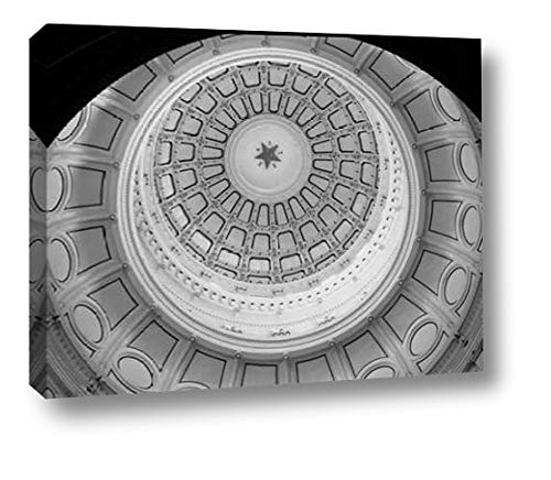 The Texas Capitol Dome, Austin Texas - Black and White by Carol Highsmith - 18
