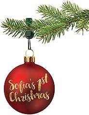 ORNAMENT ANCHOR Christmas Ornament Hooks | No-Slip Ornament Hangers for Xmas | No More Broken Ornaments | Kid